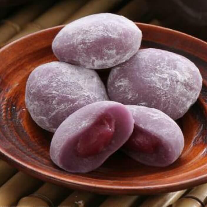 桂花紫薯麻薯