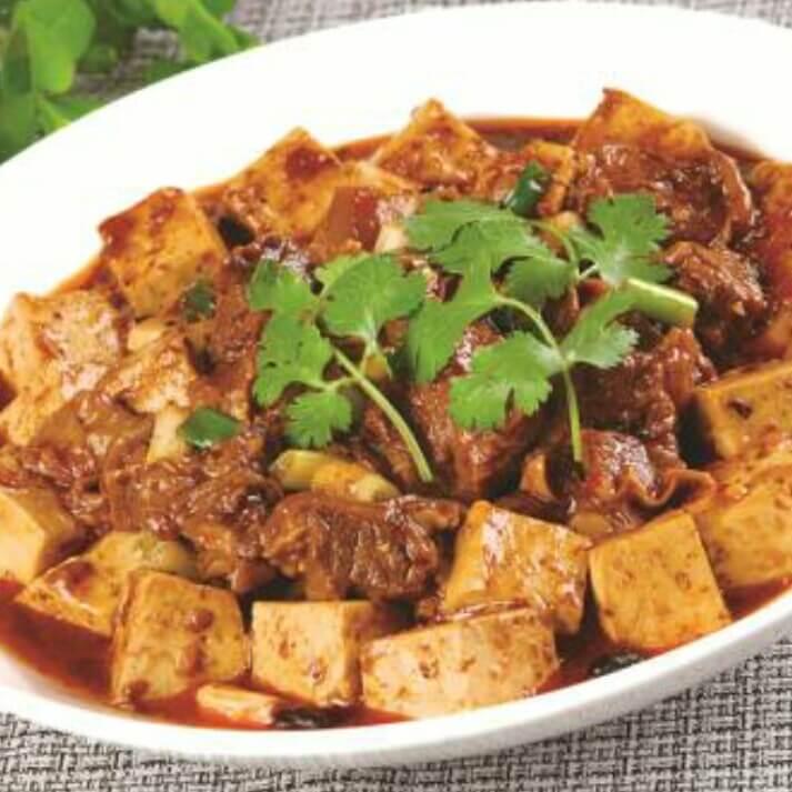 牛肉酱炒豆腐