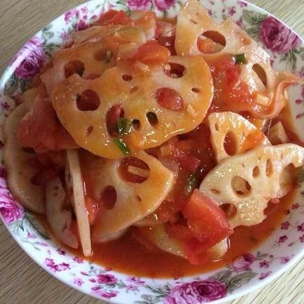 爽口茄汁藕片