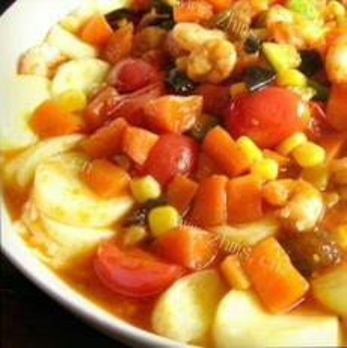 日本豆腐海鲜蔬菜烩