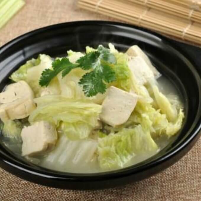 豆腐白菜煲