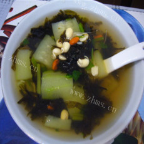 丝瓜紫菜汤
