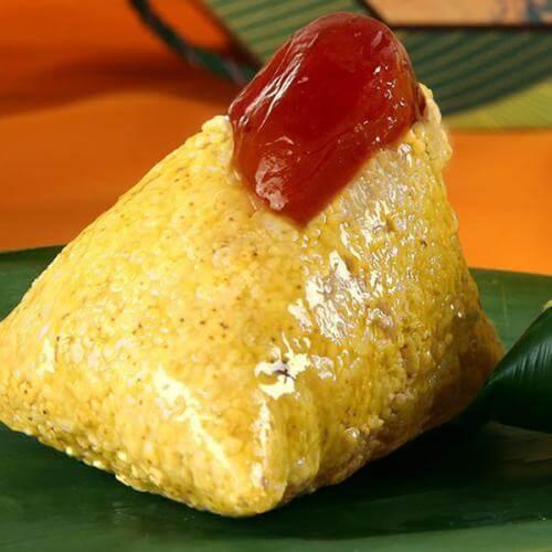 红枣黄米粽