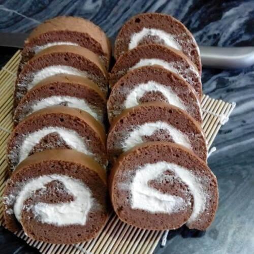 可可桑葚蛋糕卷