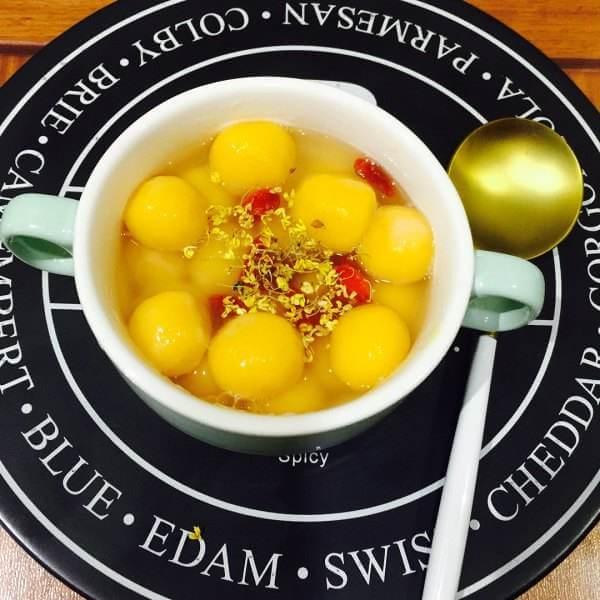 椰汁黄金汤圆