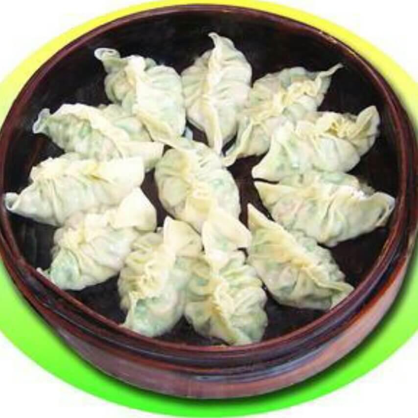羊肉金针菇蒸饺