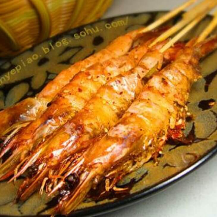 咸肉烤大虾