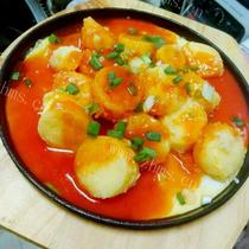 脆皮豆腐炖菌子