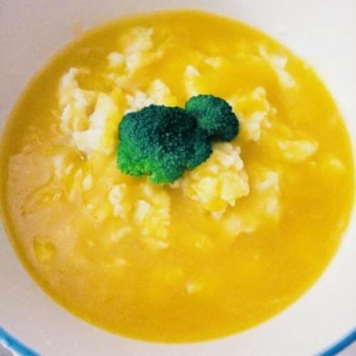 南瓜丸子水果甜汤