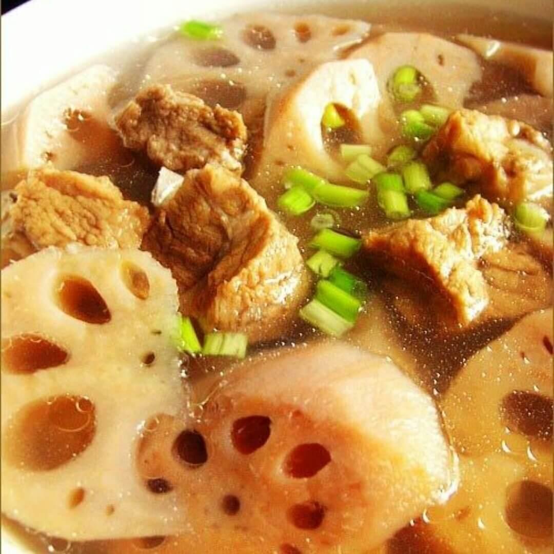 红莲藕排骨汤