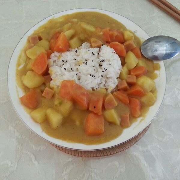 椰浆咖喱饭