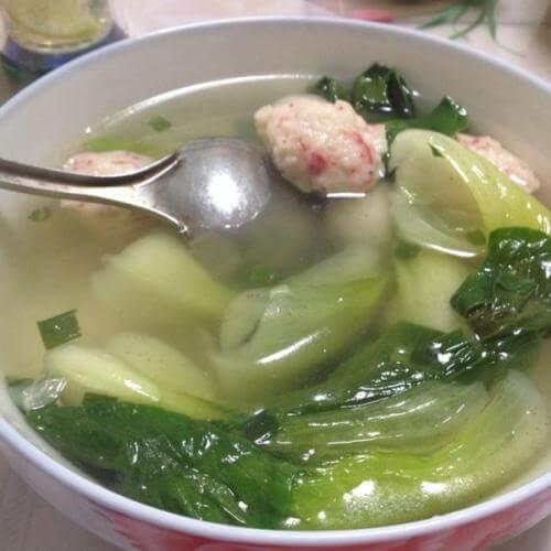 小白菜虾皮汤