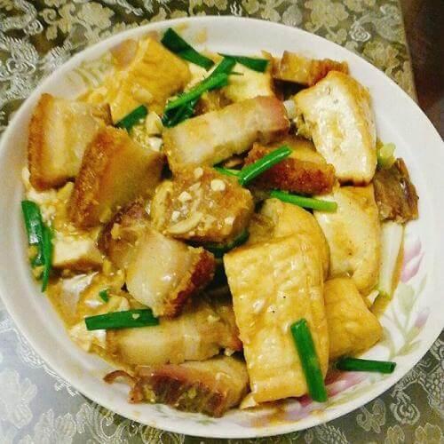 酱烧青蒜豆腐