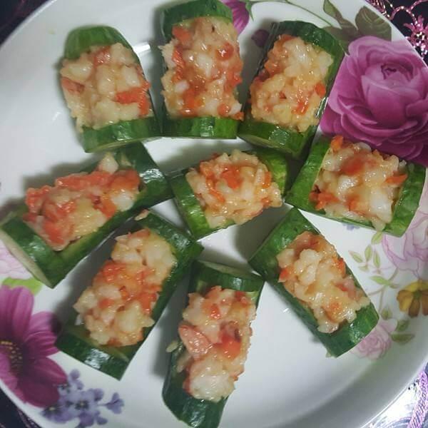 鲜虾黄瓜元宝包