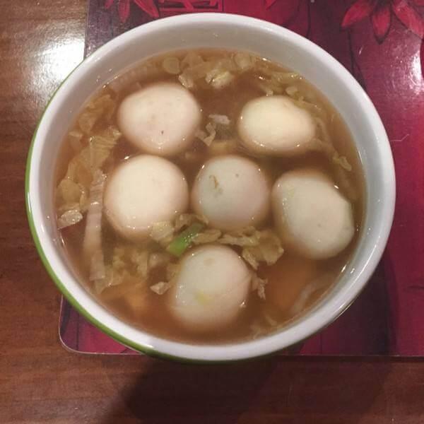 白菜豆腐鱼丸汤