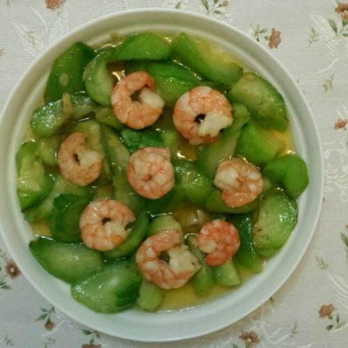 丝瓜海虾仁