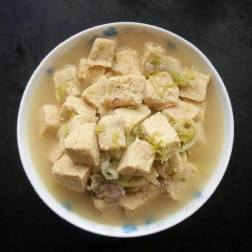 白菜冻豆腐
