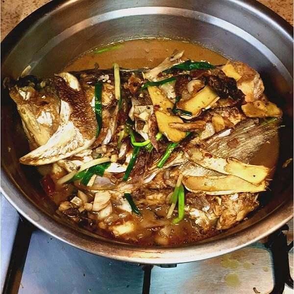 沙茶鱼头锅
