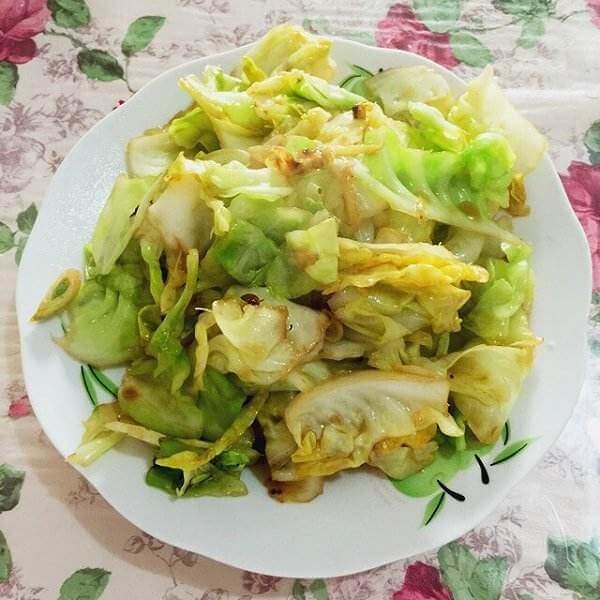圆白菜炒虾米