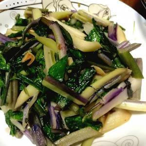 腊肉紫菜苔