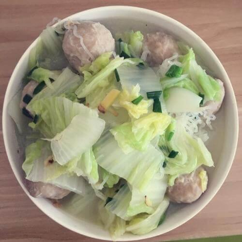 团圆包心鱼丸炒白菜
