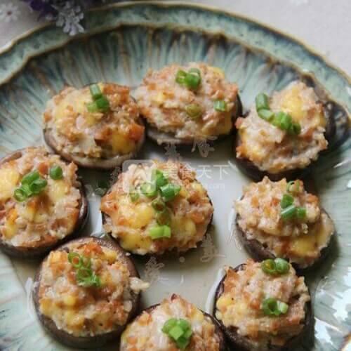 菇香奶酪虾肉盏
