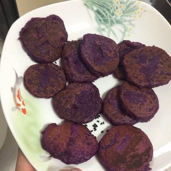 紫薯奶酪饼