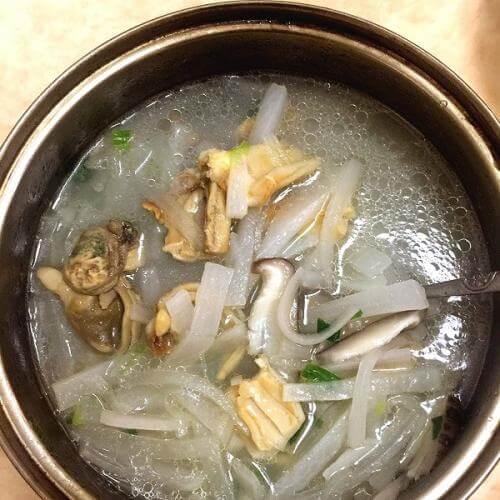 苔芯蚌肉汤