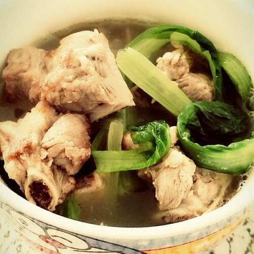 圆白菜排骨汤