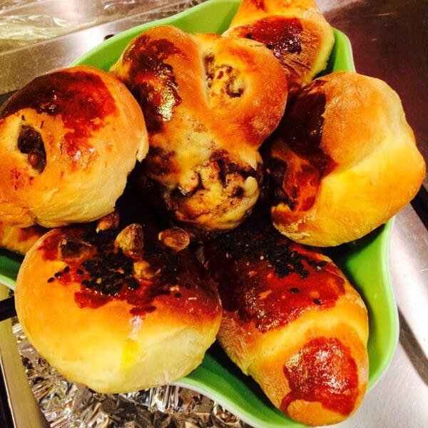 小花红豆面包