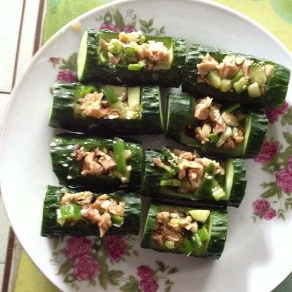 鲜虾黄瓜盅