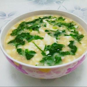 胡椒薄荷香菜荷包蛋汤