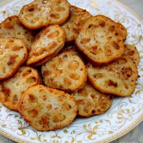 番茄酱藕饼