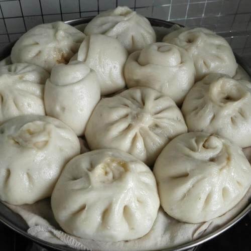 韭菜鸡蛋豆腐粉条包子