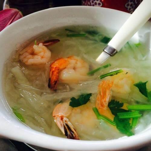 萝卜虾仁汤