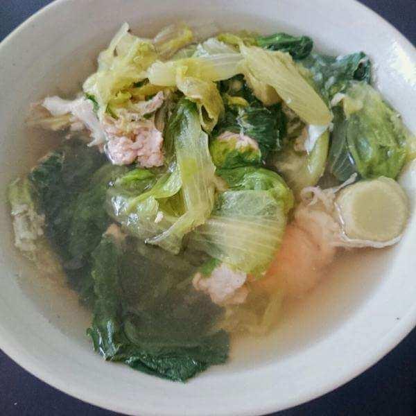 生菜鱼皮汤