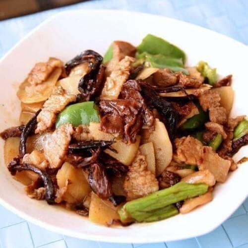 葱姜炒花蛤