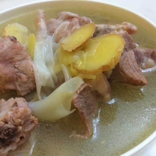 节瓜龙骨汤