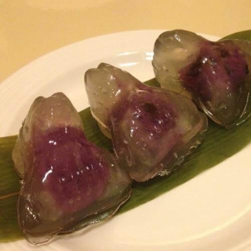 美味的绿茶水晶虾饺