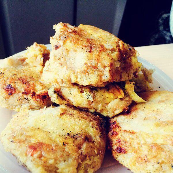 薯泥芝麻豆沙饼