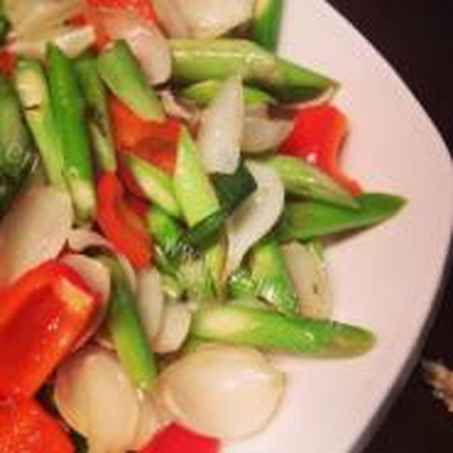 鸡汤百合芦笋