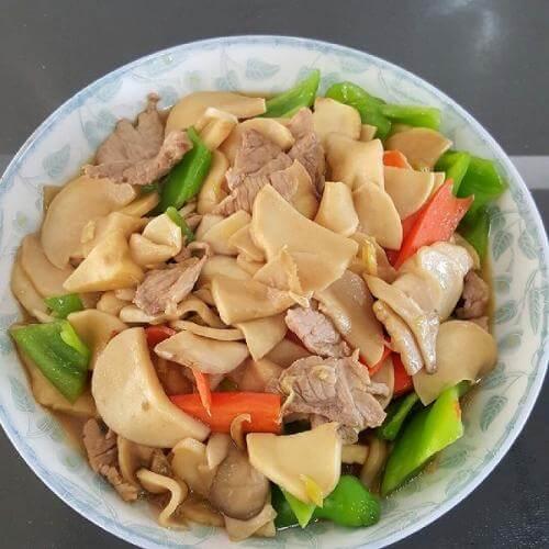 蒜蓉杂菌炒肉片