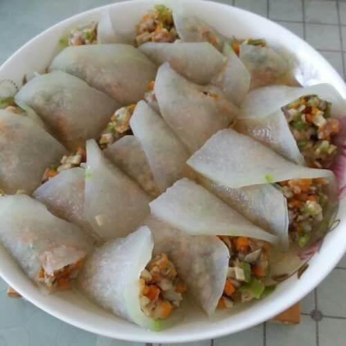 鲜虾冬瓜卷