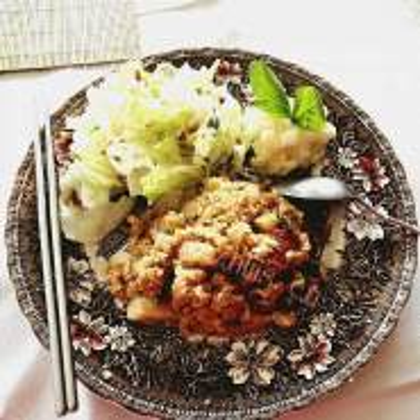 蘑菇萝卜肉碎饭