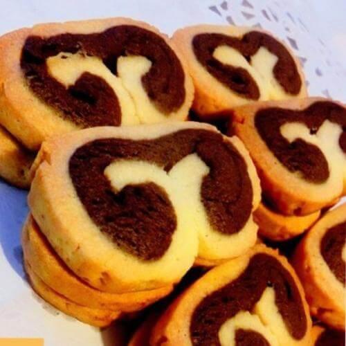 双色手工饼干