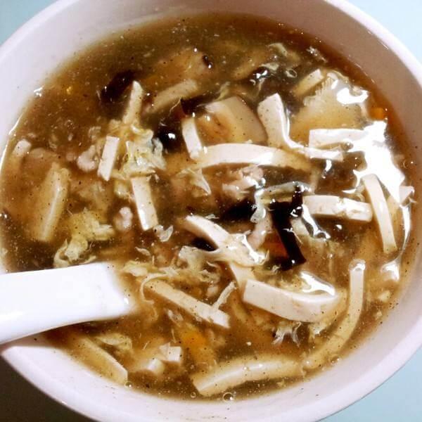 菠菜酸辣汤
