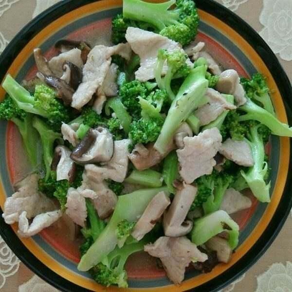 夜兰花肉片汤