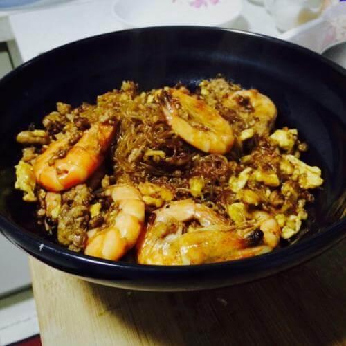 鲜虾芡实煲