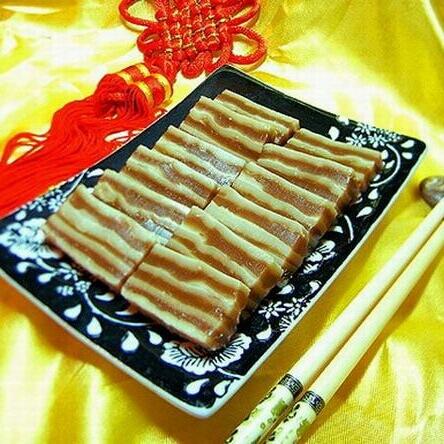红茶双色马蹄糕