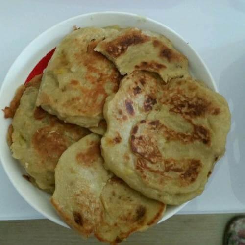 豆沙香蕉饼